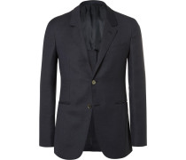 Blue Butterfly Slim-fit Unstructured Wool, Mohair And Silk-blend Blazer