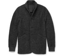 Slim-fit Boiled Wool-blend Cardigan