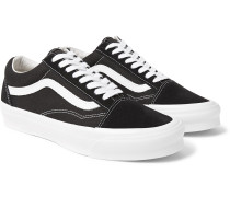 OG Old Skool LX Leather-Trimmed Canvas and Suede Sneakers