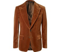 Shelton Slim-Fit Cotton-Velvet Blazer
