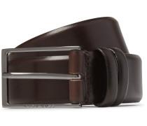 Brown 3.5cm Carmello Leather Belt