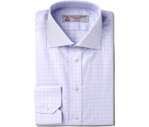 Slim-fit Windowpane-checked Cotton Shirt