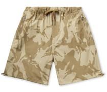 Camouflage-Print Cotton-Ripstop Drawstring Bermuda Shorts