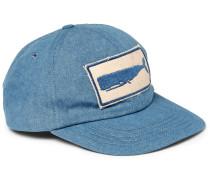 Appliquéd Denim Baseball Cap