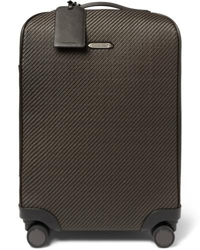 Pelle Tessuta Leather Carry-on Suitcase