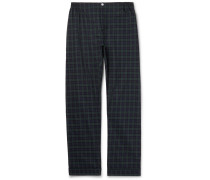 Marcel Piped Black Watch Checked Cotton Pyjama Trousers