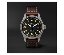 Pilot's Mark XVIII Heritage Automatic 40mm Titanium and Leather Watch, Ref. No. IW327006