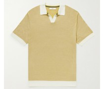Slim-Fit Honeycomb-Knit Cotton Polo Shirt