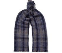 Checked Baby Cashmere Scarf