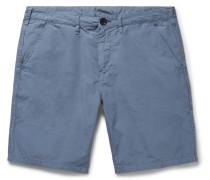 Slim-fit Stretch Cotton-twill Shorts