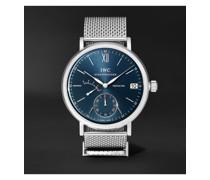 Portofino Hand-Wound Eight Days 45mm Stainless Steel Watch, Ref. No. IWIW510116