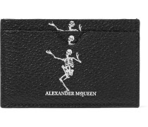 Printed Full-grain Leather Cardholder