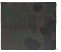 Camouflage-print Textured-leather Billfold Wallet
