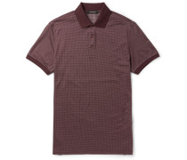 Slim-fit Cotton And Silk-blend Polo Shirt