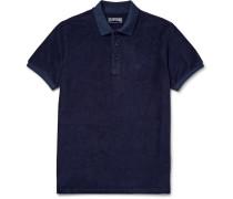 Cotton-blend Terry Polo Shirt