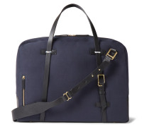 Monroe Leather-trimmed Canvas Holdall