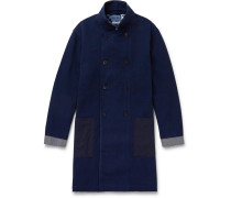Slim-fit Double-breasted Cotton-dobby Coat