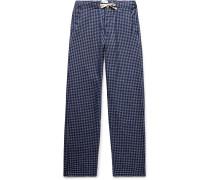 Cannington Gingham Cotton Drawstring Pyjama Trousers