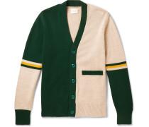 Striped Colour-Block Cotton Cardigan