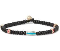 Gold Enamelled Bead Bracelet