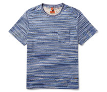 Patterned Knitted Cotton T-shirt