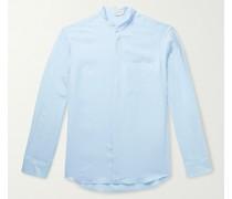 Oliver Grandad-Collar Linen Shirt