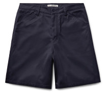 Allan Wide-leg Cotton-blend Twill Shorts