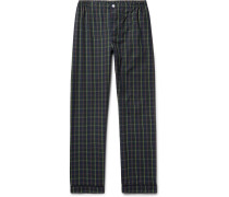 Marcel Contrast-tipped Checked Cotton Pyjama Trousers