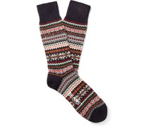 Fair Isle Knitted Socks