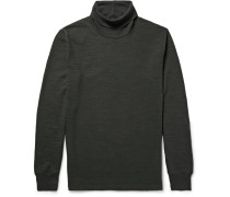 Slub Cotton-jersey Rollneck T-shirt