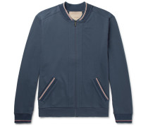 Stretch-cotton Jersey Zip-up Top