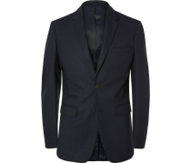 Blue Soho Slim-fit Stretch-wool Twill Suit Jacket