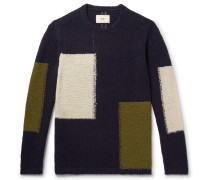 Colour-block Wool-blend Sweater