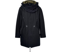 Faux Shearling-trimmed Cotton-twill Hooded Parka