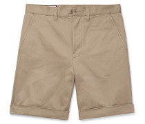 Appliquéd Cotton-twill Shorts