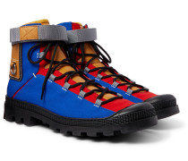 Eye/LOEWE/Nature Leather-Trimmed Canvas Boots