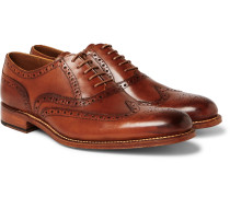 Dylan Burnished-Leather Wingtip Brogues