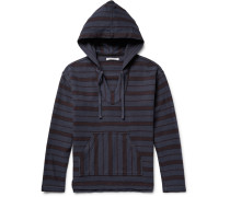 Happy Striped Organic Cotton-twill Hoodie