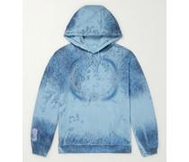 Breathe Logo-Appliquéd Printed Cotton-Jersey Hoodie