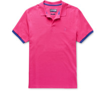 Palatin Contrast-tipped Cotton-piqué Polo Shirt