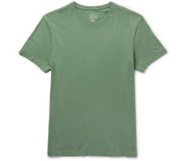 Broken-in Slim-fit Brushed-cotton Jersey T-shirt