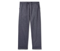 Brushed Cotton-Twill Pyjama Trousers