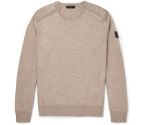 Kerrigan Quilted Shell-trimmed Wool Sweater