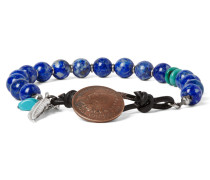 Lapis, Turquoise And Sterling Silver Bracelet