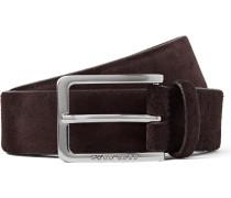 3.5cm Dark-brown Cansian Suede Belt