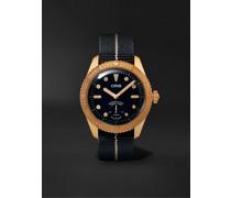 Carl Brashear Limited Edition Automatic 40mm Bronze and MN Stretch-Nylon Webbing Watch, Ref. No. 01 401 7764 3185-Set