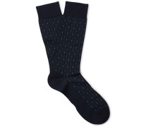 Palmer Patterned Cotton-blend Socks