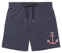 Motu Mid-length Embroidered Swim Shorts