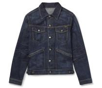 Washed-Denim Trucker Jacket