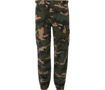 Slim-fit Camouflage-print Cotton Cargo Trousers